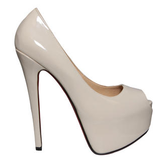 View Item Nude Peeptoe Platform Shoe